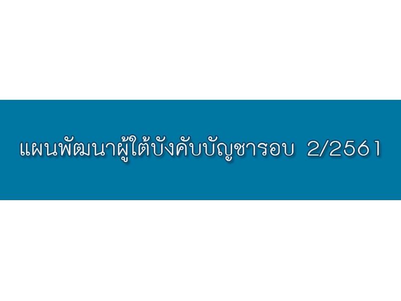 แผนพัฒนาผู้ใต้บังคับบัญชารอบ 2/2561